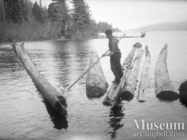 Working the log booms at Nimpkish Lake