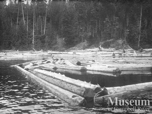 Log boom at Nimpkish Lake