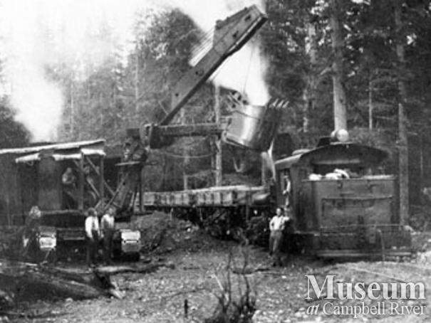 Logging at Port Neville