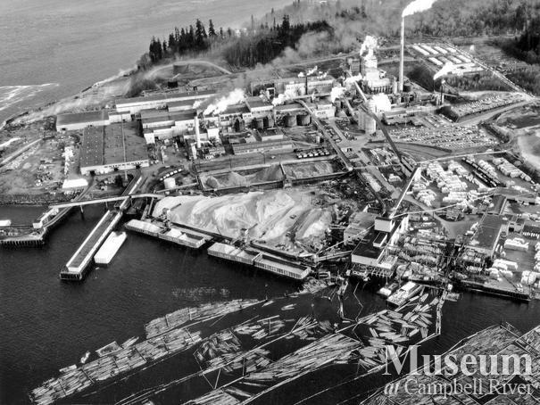 Aerial View of Elk Falls Mill