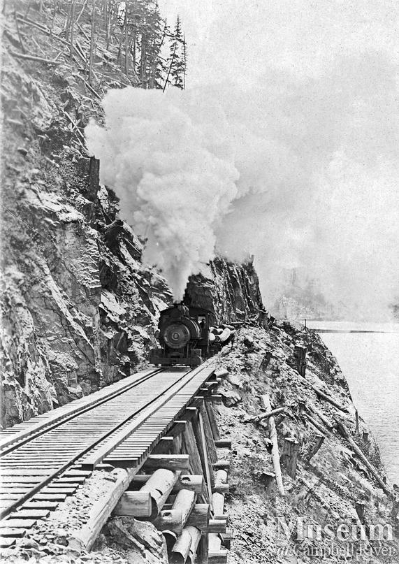 Hastings co. locomotive Rock Bay area