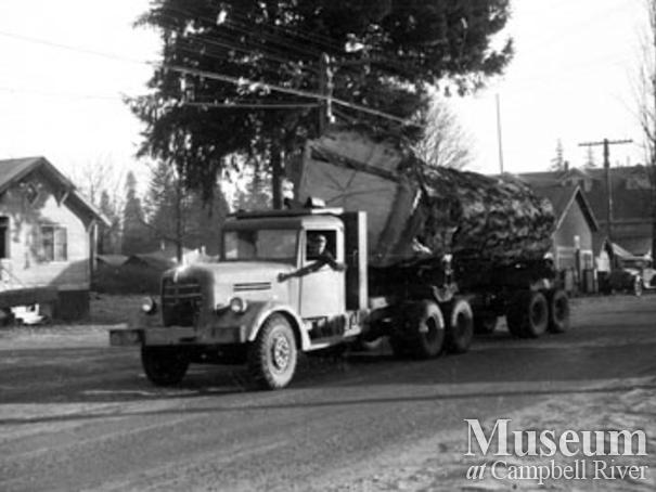 Quinsam Trucking with a large load