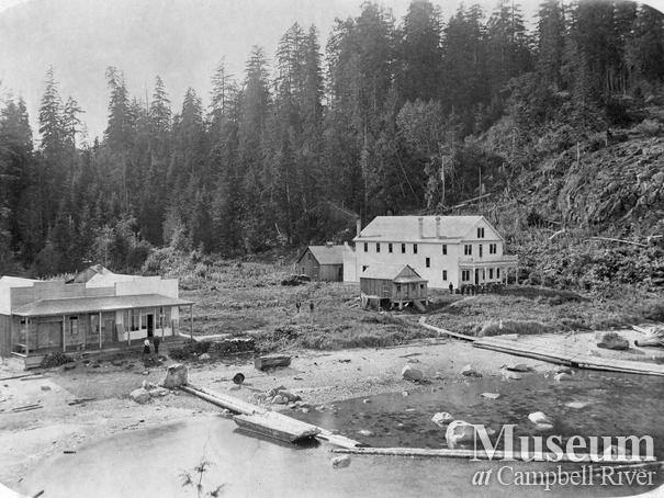 View of Rock Bay showing hospital and camp