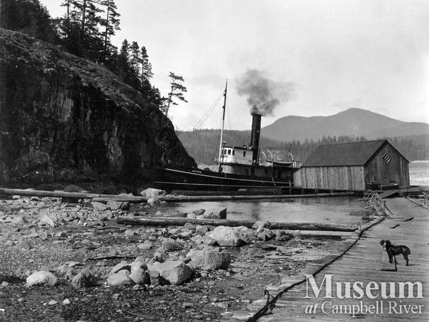 View of wharf at Rock Bay