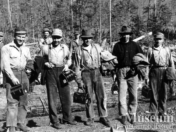 Elk River Timber co. crew