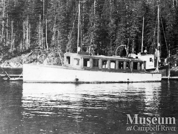 A forestry boat stationed at Thurston Bay