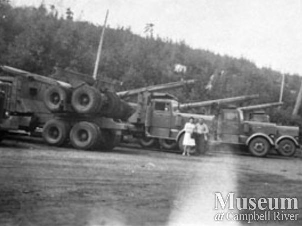 Pioneer Timber Co. logging truck, Port McNeill