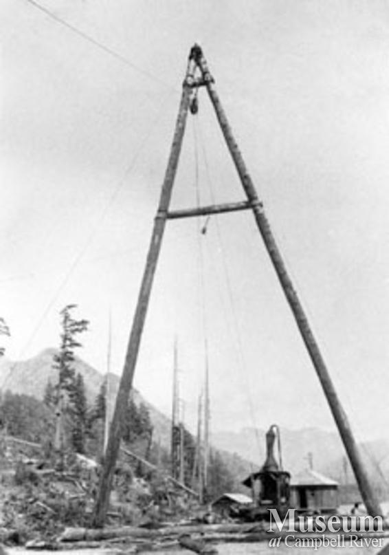 Deep Bay Lake, A-frame and donkey