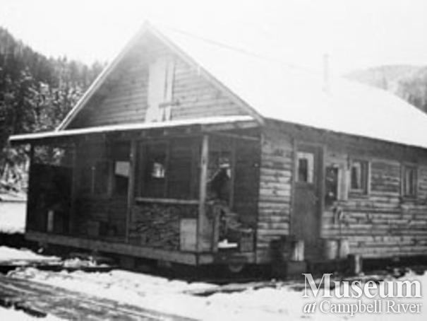 Schoolhouse at Gildersleeve logging camp