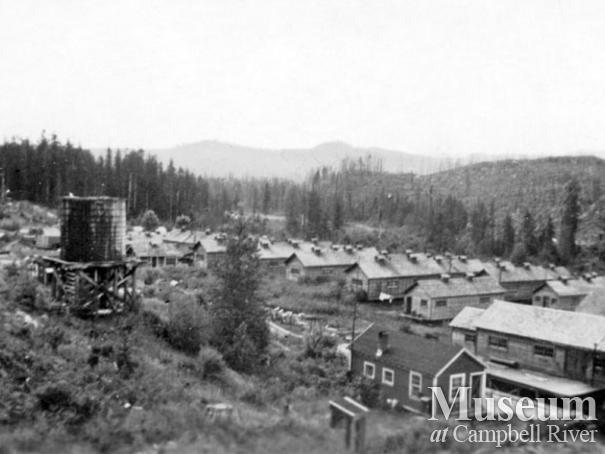 Elk River Timber Co. camp bunkhouses at Camp 8