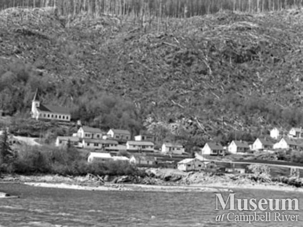 Logging camp houses at Zeballos