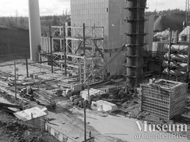 Expansion at the Elk Falls Mill, 1960's