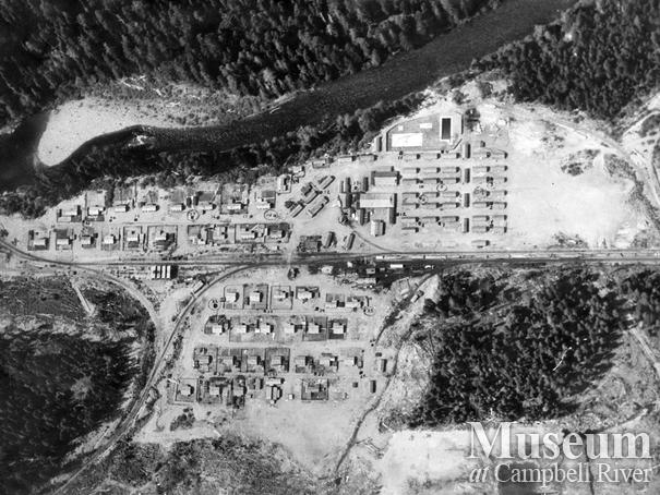 Aerial view of Woss Camp
