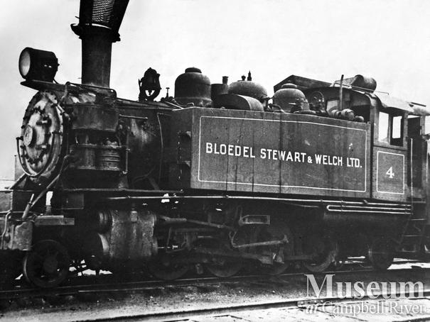 Bloedel, Stewart and Welch locomotive Menzie's Bay