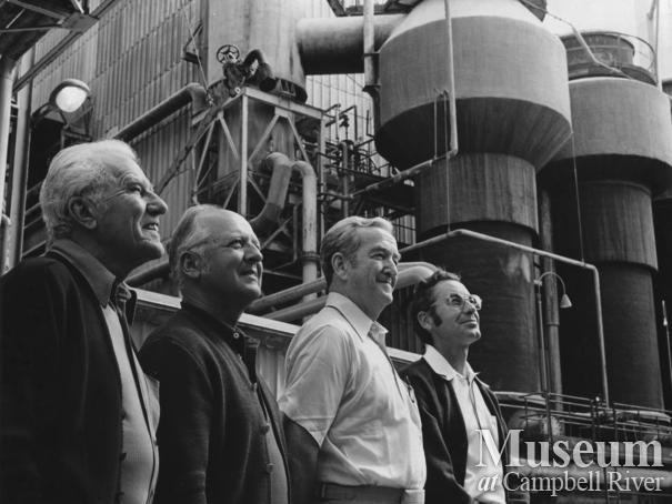The first four managers of the Elk Falls Mill, Sept. 5, 1975