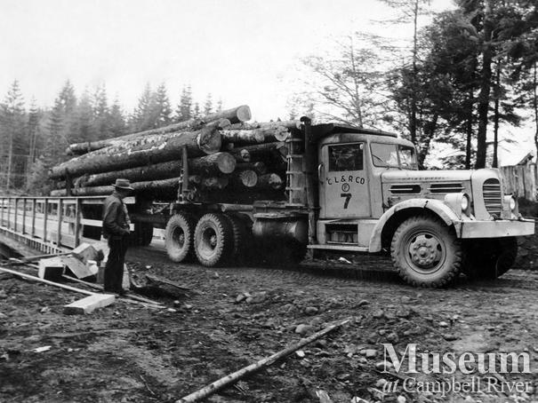Loaded Hayes logging truck