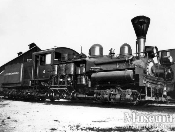 Elk River Timber Co. locomotive near Campbell River