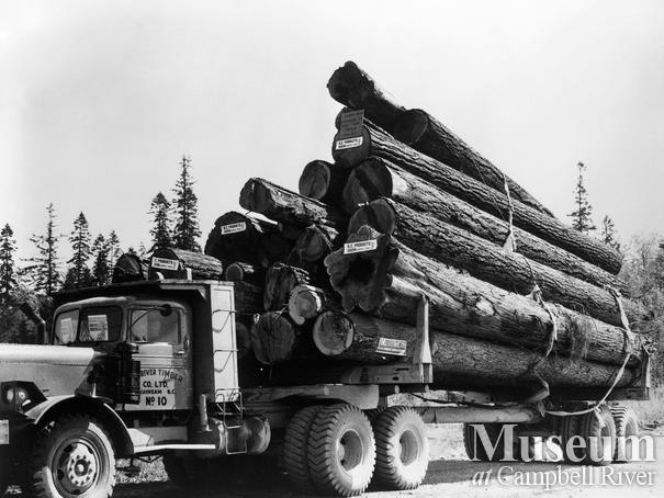 Elk River Timber Co. logging truck No. 10