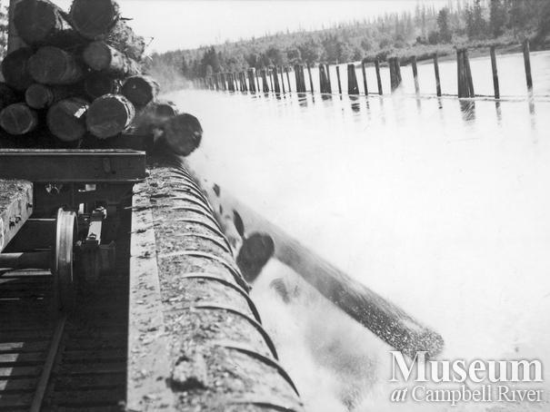 Elk River Timber Co. log dump