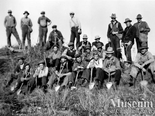 A forestry tree-planting crew at Quinsam Flats