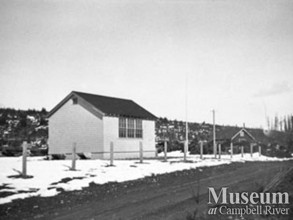 The school house at Elk River Timber Camp 8