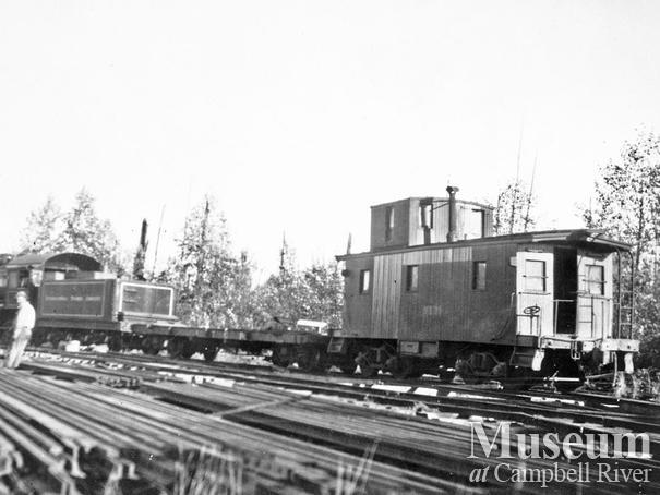 Elk River Timber Co. 5 Spot locomotive at Camp 8