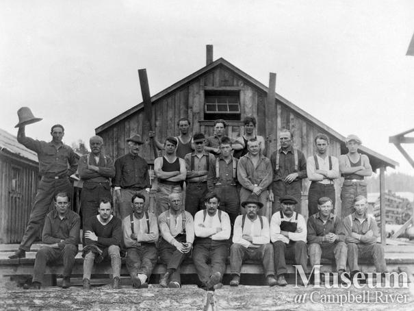 Hasting Co. crew at Rock Bay operations