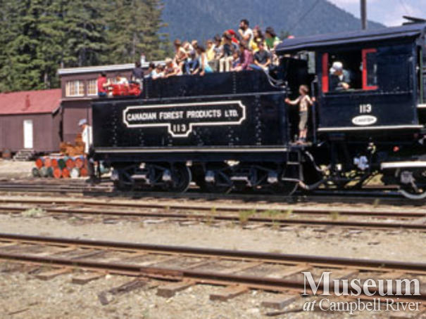 Canadian Forest Products locomotive
