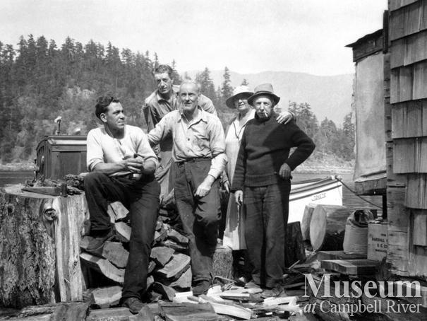 Crew at Dick Parker's camp Trevenon Bay