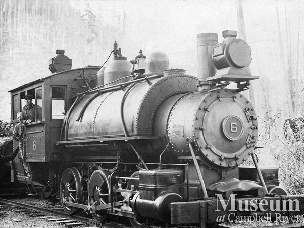 Hastings co. locomotive Rock Bay area
