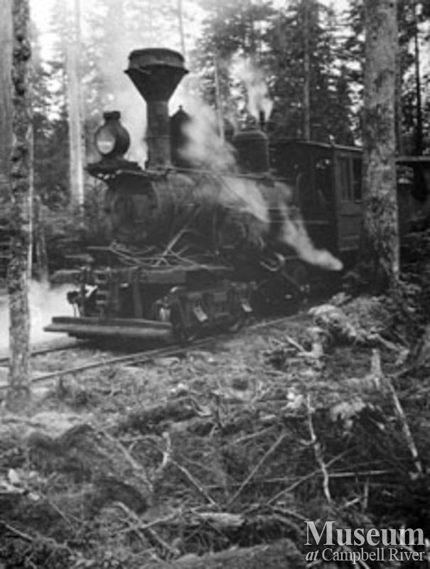 Wilson and Brady locomotive Quadra Island