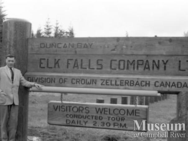 Meade at Elk Falls Mill sign