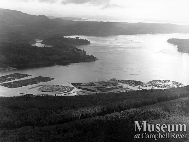 Aerial view of Menzie's Bay