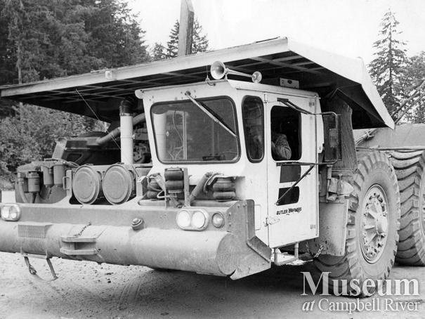The 'Butler' logging truck at MacMillan Bloedel operations