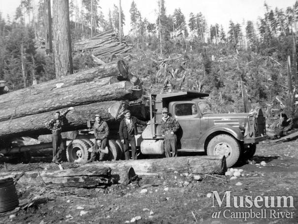 Coal Creek Logging Ltd. truck at Granite Bay