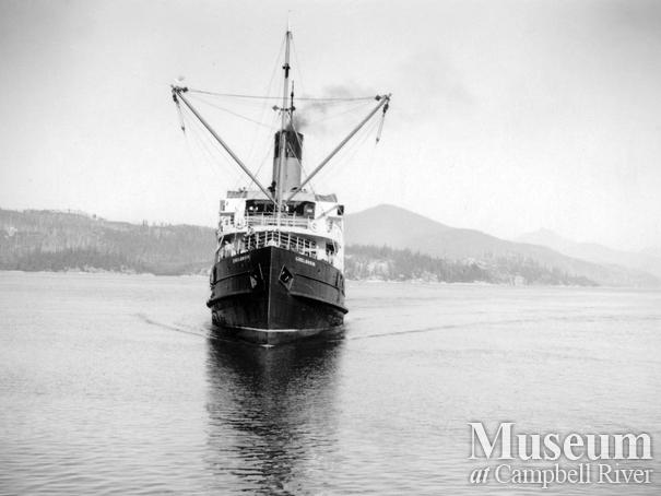 The Union Steamship 'Chelosin' at Rock Bay